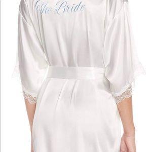 Never worn bridal silk robe